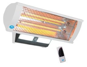2.3kW Carbon Fibre Patio Heater with Light and Remote Control
