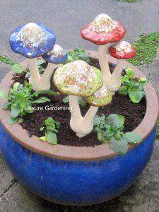 Toadstool and Mushroom Ornaments