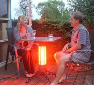 Infra-red table heating